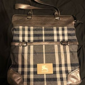Burberry Authentic Ltd Edition Shimmer Pewter Bag